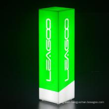Restaurant hotel bar LED cube acrylic LED logo light box