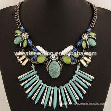 Newest fashion handmade stone necklaces