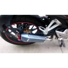 Tubulação grande do silencioso da exaustão da motocicleta do deslocamento 100cc 200cc com o fornecedor da fábrica do serviço do OEM