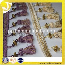 Pequeña ropa custume perla franja de borla en stock
