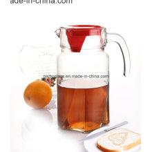 Bouilloire en verre de 1,8 litre avec couverture rouge