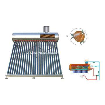 2015 calentador de agua solar pre-calentado de moda con el interior de la bobina de cobre
