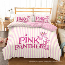 3D Printed Bedding Set, Suitable for Duvet Cover Set, Pink Panther