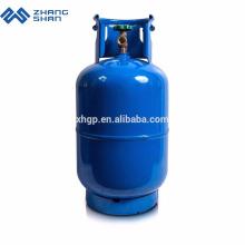 Leere Zylinder industrieller 12.5kg Lpg-Zylinderpreis mit Messingventil