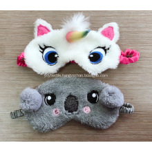 Grey bear blindfold with embroidery