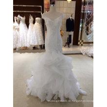 Meerjungfrau Rüsche Organza Brautkleid