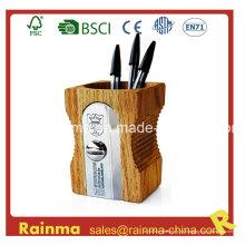 Большой деревянный точилка Shape Pen Holder
