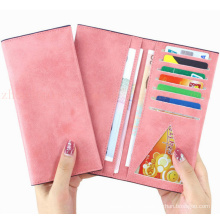 OEM High Quality Promotional Classical Matte PU Purse Wallet