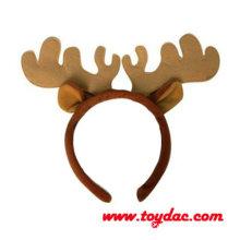 Plush Christmas Reindeer Hairpin