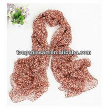 SD319-087 moda impressa lenço de seda personalizado