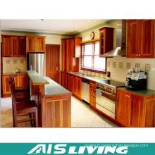 Mobilier d'armoires de cuisine en placage de style classique (AIS-K197)