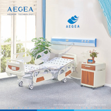 La popularité d'AG-BY004 a évalué le lit d'hôpital électrique de 5 fonctions avec le crochet de drainage