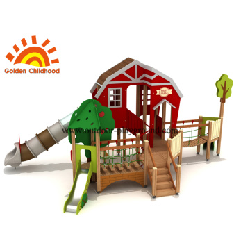 Red Playhouse Outdoor Playground Equipment en venta
