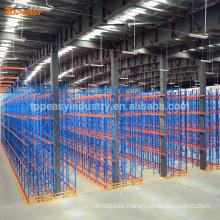 metal double-deep pallet rack for warehouse storage