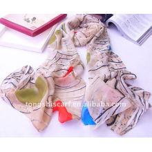 Chiffon scarf necklace