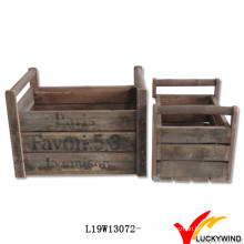 Fashionable French Antique Wooden Crate