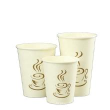 250 270 280 340 360ML eco- friendly take-away double single-wall Single Double PE mill factory price plain white coffee cups