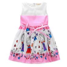 Vestido de niña de moda con Lovly Print en ropa para niños