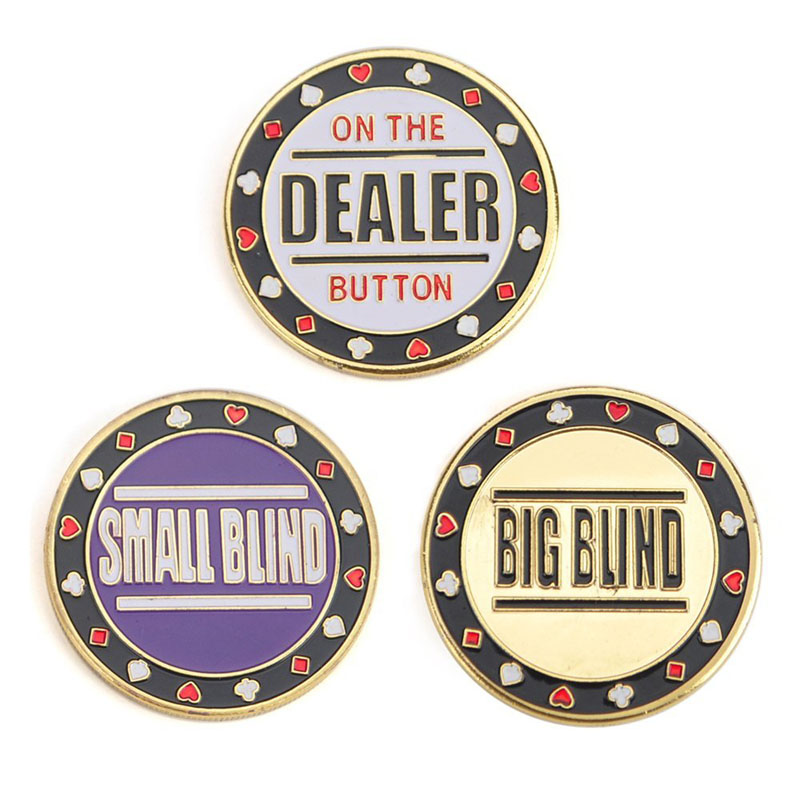 Metal Chip Poker Buttons