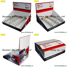 Soporte de exhibición, soporte de exhibición de los ganchos, PDQ de la plataforma, caja de presentación del papel (B & C-D049)