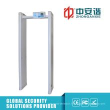100 Niveau de sécurité 6/12/18/33 Zones Archway Metal Detector