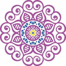 Runde Tücher mit 100% weicher Baumwolle lila Mandala für Strand
