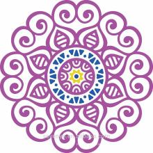 100% soft cotton purple mandala round towels for beach