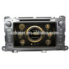 Radio del coche del wince de la zona dual del precio de fábrica para Toyota Sienna con GPS / Bluetooth / Radio / SWC / Virtual 6CD / 3G / ATV / iPod