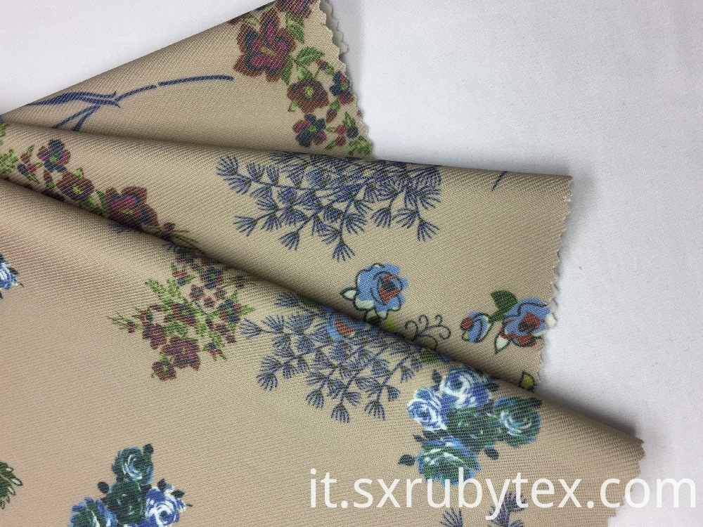Polyester Spandex Heavy Twill Print Knit Fabric