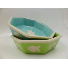 Tigela de cerâmica do gato