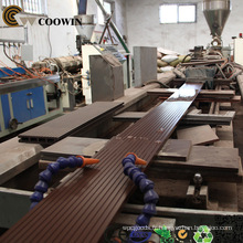 WPC Decking faisant la machine \ Ligne d'extraction de decking de WPC