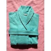 100%cotton waffle diamond pattern shawl collar bathrobe