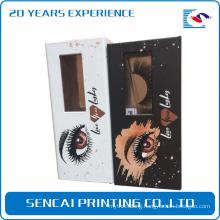 Sencai high quality cosmetic packaging paper box for mink false eyelash