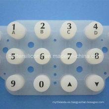 Almohadilla de botón de membrana de caucho de silicona translúcida