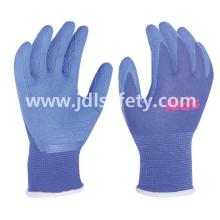 """Trabajo guante de látex de espuma capa colorida (tamaño 5""""/ LR3018F)"""