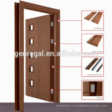 Натуральный шпон предварительно повесил ламинированные деревянные двери