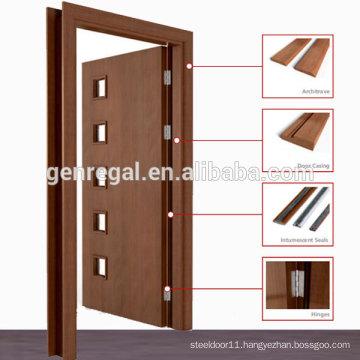 Natural Veneer Pre hung laminated wooden door