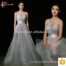 2017 Cinza Long Satin New Arrival Cheap Off-Shoulder Guangzhou vestido de dama de honra