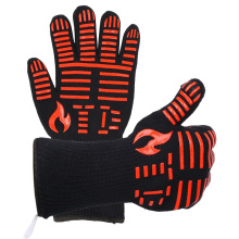 TE1102 Hot sale heat resistant oven gloves, BBQ grill glove for cooking