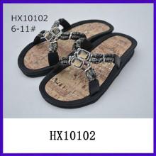 Zapatos coreanos de las sandalias de las mujeres superiores de la tapa de la joya de la manera zapato ocasional de la sandalia