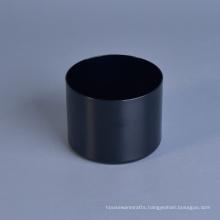 Scented Wax Black Candle Jar, Black Metal Candle Jar