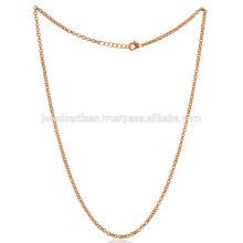 Cadeia de moda banhada a ouro 20 polegadas