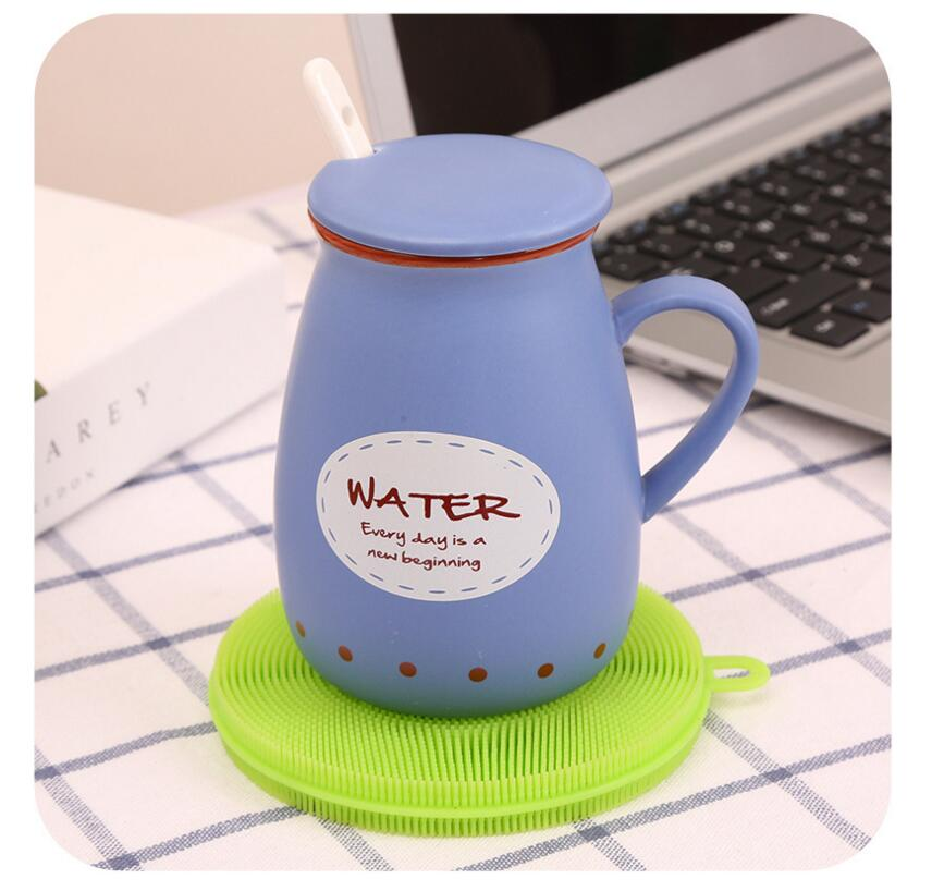 Botol Mat Heat-resistance Pot Scrubber Silicone Cleaning Brush