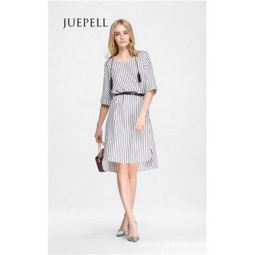 Casual Stripe Tunika Frauen Kleid