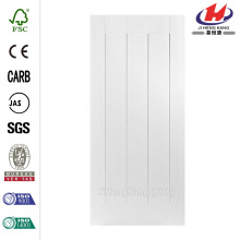 24 in. x 80 in. Saddlebrook Smooth 1-Panel Plank Hollow Core Primed Composite Interior Door Slab    Quality Assured