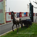 Simulación de fibra de vidrio animal sculpture-carriage