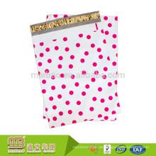 Precio de fábrica Durable diseño colorido impresión plástica envío Polka Dots mailing bolsas