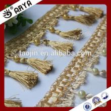 2016 Stock Produkt Günstige Big Schnäppchen für Sofa Vorhang der handgefertigten Perlen Quaste Fransen