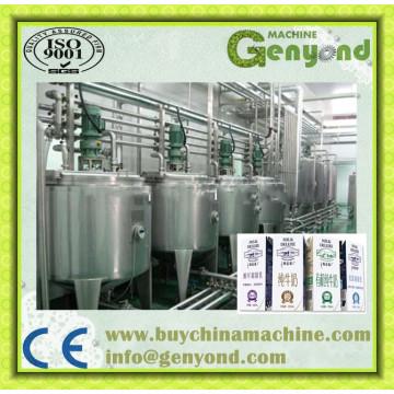 3000bph Leite Pasteurizado Linha de Processamento de Máquinas, Planta com Top Carton Package Automático