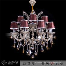 Commmercial Lustre en cristal de bougie en laiton à Zhongshan